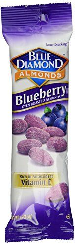 *** Amazing deals just a click away: Blue Diamond Blueberry Flavored Almonds, 1.5 oz tubes, 12 tubes each box at baking desserts recipes.