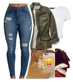 """11/20/16"" by liveitup-167 ❤ liked on Polyvore featuring New Look, L.L.Bean, Michael Kors, Casetify, Rolex, UGG and plus size clothing"