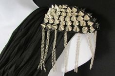 Black Silver / Gold One Shoulder Pin Broach Long Silver Spikes Body Jewelry New Women Lady Gaga M.J. - alwaystyle4you - 23