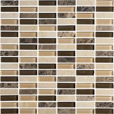 We're loving these Navona Mix glass mosaic tiles today