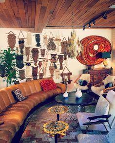 Living room at The Parker Palm Springs. interior design by Jonathan Adler
