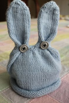 Blue Bunny Boy by TheKnitterie #Hat #Babies #Bunny