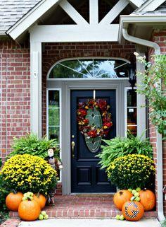 front door decorations | Decorating ideas for front door area