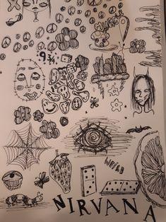 Indie Drawings, Psychedelic Drawings, Cool Art Drawings, Art Sketches, Arte Grunge, Grunge Art, Doddle Art, Hippie Painting, Trash Art