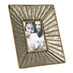 Galvanized Metal Picture Frame, 5x7 | Kirklands