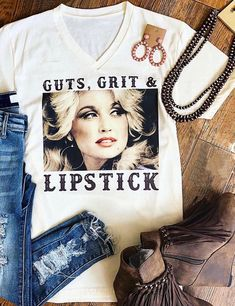 Dolly Parton - Guts, Grit & Lipstick T-Shirt