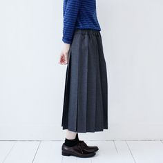 Charpentier de Vaisseau : Wool Pleated Skirts