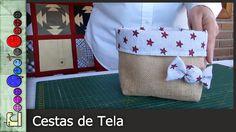 Cómo hacer una Cesta de tela [Tutorial] Patchwork Tutorial, Vide Poche, Fabric Storage, Fabric Bags, Diy Pillows, Fabric Crafts, Hand Sewing, Diy And Crafts, Burlap