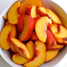 Fresh sliced peaches mmmm :)