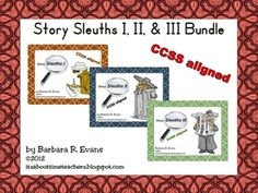 3 for the price of 2.  Story Sleuths Bundle  $ #Caldecott books  #CCSS #Gifted #StorySleuths  #criticalthinking #higherorderthinkingskills #enrichment #BarbEvans #itsabouttimeteachers