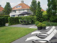 Grote betontegels in haarlem tuin en terras tegels en
