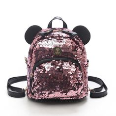 New Small Princess Bling Mickey Mouse Design Backpacks for Girls – Mighty Empire Trendy Backpacks, Girl Backpacks, School Backpacks, Mickey Mouse Design, School Bags For Girls, Bling, Small Backpack, Designer Backpacks, Fashion Backpack