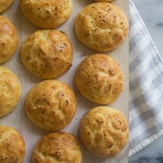 Beer and Chefdar Cheese Gougeres