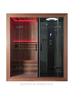 Luxury Bathroom Design Portable LED Steam Shower Sauna Combos Room…