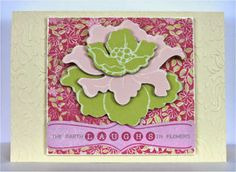#cre8time for Flowers! Jennifer Edwardson is sharing this gorgeous layered card on her blog today!
