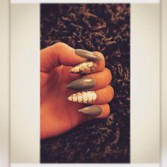 """#my attempt at #snakeskin #nails #nailart #nailfie #naildesign #pointynails #acrylicnails #newnails """
