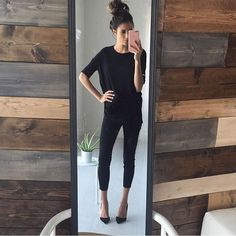 """@best_street_styles  (: @hellofashionblog )"" all black"