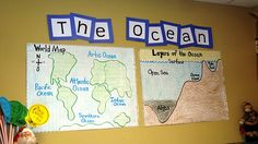 Anchor charts of the oceans Social Studies Activities, Teaching Social Studies, Science Activities, Teaching Science, Learning Resources, Life Science, Layers Of The Ocean, Ocean Lesson Plans, Ocean Zones