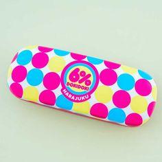 6%DOKIDOKI Polka Dots Eyeglass Hard Case - Blippo Kawaii Shop Kawaii Accessories, Japanese Candy, Kawaii Shop, Cute Cases, Japanese Beauty, Bright Colors, Eyeglasses, Fairy Tales, Sunglasses Case