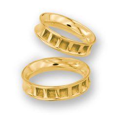 obrączki z żółtego złota (OB 13) - szerokość 5 mm