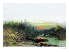 Indian Camp Wall Decal by Albert Bierstadt at Art.com