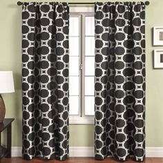 Catara Circle Rod Pocket Curtain Panel I'm trying to decide on living room curtains
