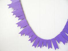 Grape Purple Garland / Purple Bunting / Purple by ElisabethNicole, $22.00