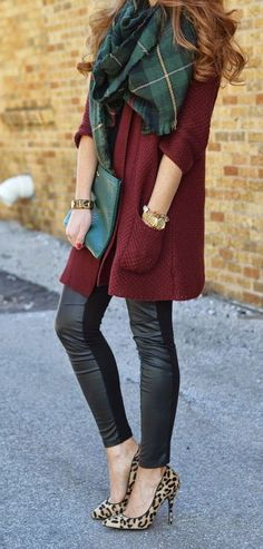 love the scarf with this sweater  !!!
