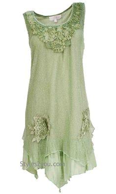 Savannah Tunic Dress In Aqua