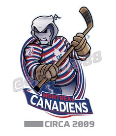 A ghost specter wears the 2009 Montreal Canadiens jersey complete with the team's centennial anniversary . Hockey Logos, Nhl Logos, Sports Team Logos, Montreal Canadiens, Creative Logo, Hockey Drawing, Hockey Party, Team Mascots, Sports Wallpapers