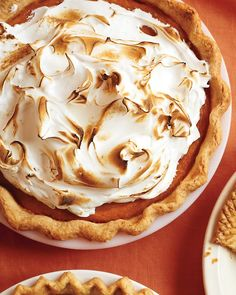 Sweet-Potato Meringue Pie *** I made this today 12/25, Christmas Day. I used a premade Marie calendars frozen pie crust. It was good, but I would omit the eggs in the filling. I also had to bake it for 60-70 mins to get the filling to set.