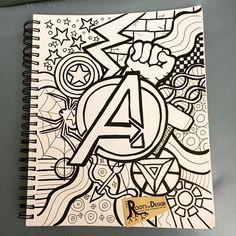Em homenagem a mim vendendo em um con quadrinho hoje e amanhã eu fiz um doodles Avengers