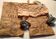 2 NOS YALE DOOR LOCKS & KEYS BUICK,CHEV,LASALLE OLDS ,PONTIAC 1930:-50