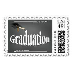 Chalkboard Graduation Postage Stamps