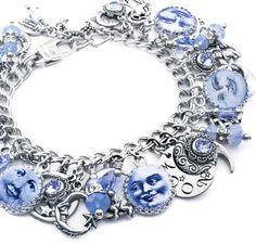 Blue Moon Bracelet, Blue Moon Jewelry, Moon Charm Bracelet, Luna Jewelry, Celestial Jewelry, Moon Jewelry