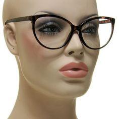 New Smart Sexy Women's Cat Eye Glasses Thin Brown Tortoise Frame Eyeglasses | eBay