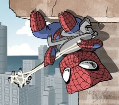 If Spiderman were a pig, then OF COURSE he would fashion his own Spider-Pig-Banjo. This one is for @Dan Reedy AND his son.