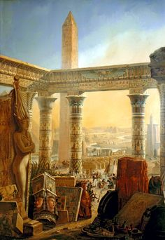 Egypt , Old Cairo Paintings: Charles-Louis-Fleury Panckoucke (French, 1780-1844). Monuments of Egypt, ca. 1821-24