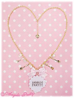 Angelic Pretty: 2012 Sweet Cream Biscuit Necklace in pink