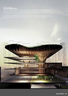 A tree-inspired 3rd prize proposal from the Shuter Dreamworks Green Factory competition