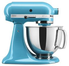 Amazon.com: KitchenAid KSM150PSCL 5 Qt. Artisan Series with Pouring Shield - Crystal Blue: Electric Stand Mixers: Kitchen & Dining