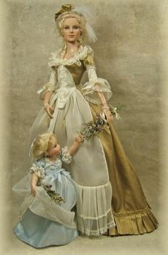 #MarieAntoinette with daughter Princess Marie #Barbie #dolls