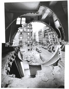 Why Gordon Matta-Clark cut holes in buildings - Conical Intersect Paris Buildings, Abandoned Buildings, Gordon Matta Clark, Study Architecture, Museum Of Contemporary Art, French Photographers, Land Art, Colorful Pictures, Drawings