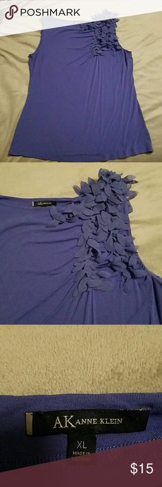 Anne Kleim purple shirt Sleeveless. Can be dressed up or down. Super cute.  Between purple and blue. Anne Klein Tops