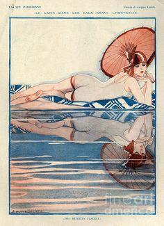 1920s France La Vie Parisienne Print By The Advertising Archives (hva)