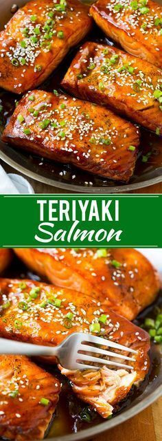 Salmon Teriyaki Recipe & Easy Salmon Recipe & Asian Salmon & Teriyaki Recipe Lachs Teriyaki Rezept & Einfaches Lachsrezept & Asiatischer Lachs & Teriyaki-Rezept The post Lachs Teriyaki Rezept Salmon Dishes, Seafood Dishes, Seafood Recipes, Chicken Recipes, Cooking Recipes, Salmon Meals, Salmon Food, Salmon And Rice, Shellfish Recipes
