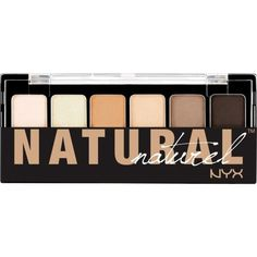 NYX COSMETICS The Natural Shadow Palette (67 HRK) ❤ liked on Polyvore featuring beauty products, makeup, eye makeup, eyeshadow, beauty, eyes, filler, palette eyeshadow, nyx eyeshadow and nyx
