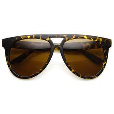 Retro Sunglasses Flat Top Oversize Aviators 8918 | zeroUV