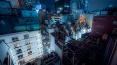 Rooftops. Tokyo, Japan
