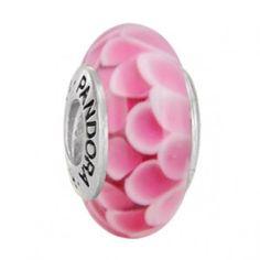 Pandora Murano Glass Bead Rose Lotus $37.00